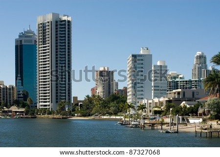 Highrise apartment buildings, Surfers Paradise, Queensland, Australia