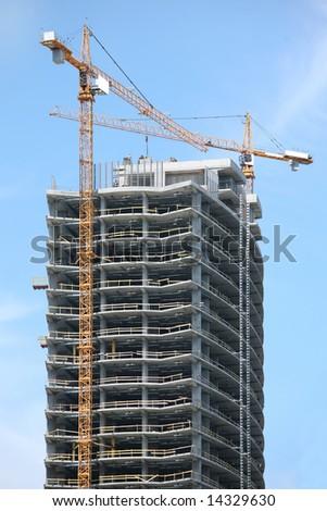 Highrise Building Construction Site - stock photo