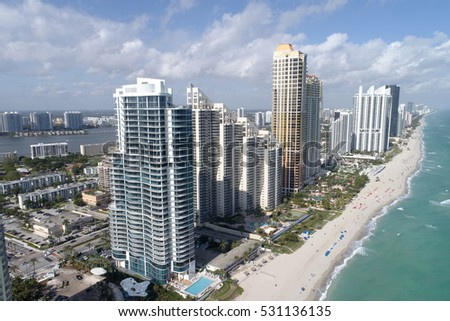 Highrise buildings in Sunny Isles Beach