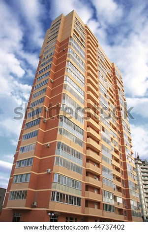Highrise Condominium, (look similar images in my portfolio) - stock photo