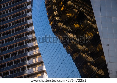 highrise glass building - stock photo