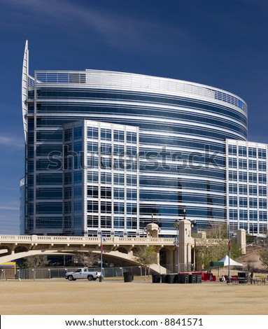 Highrise Office Building in Tempe Lake Park; Phoenix, Arizona - stock photo