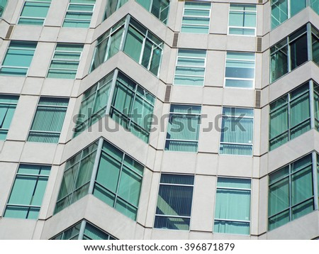 Highrise Office Building made of Concrete and Glass - stock photo
