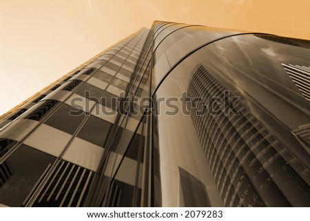 Highrise Sunset in San Francisco - stock photo