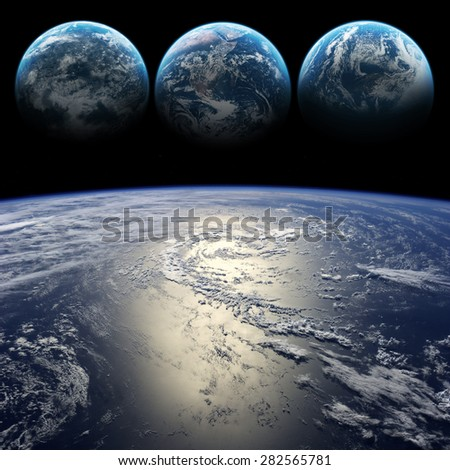 Hight quality Earth images. Elements of this image furnished by NASA - stock photo