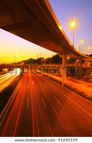 highway at night - stock photo