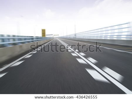 Highway background road china
