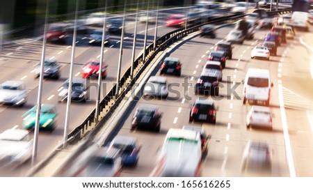 highway (blurred) - stock photo