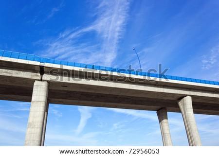 highway bridge - stock photo