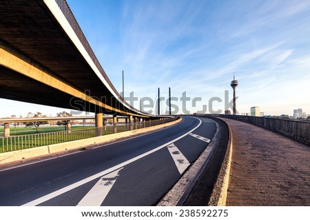 Highway bridge intersection  - stock photo