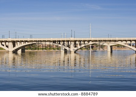 Highway Bridge over Salt River (Tempe Lake), Arizona