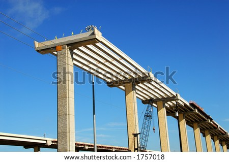 Highway Construction - stock photo
