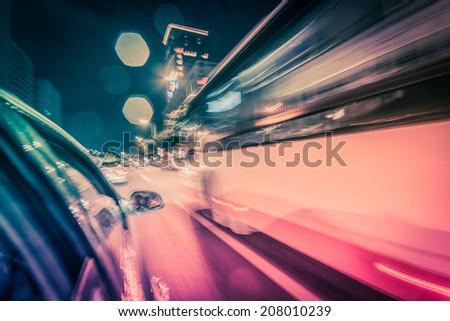 highway driving - stock photo