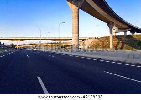 Highway empty - stock photo