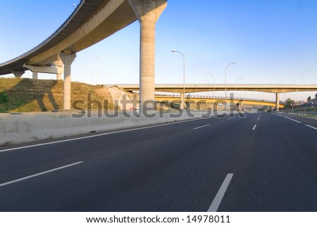Highway empty for a final of football - stock photo