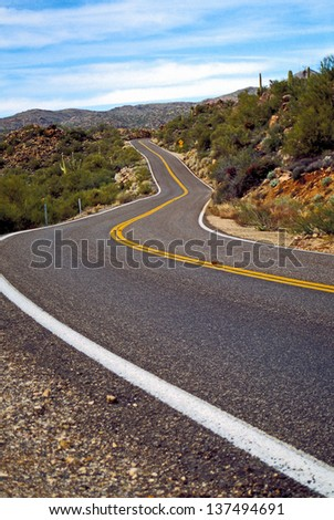 Highway in Arizona - stock photo