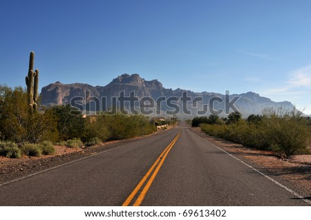 Highway in Arizona Desert