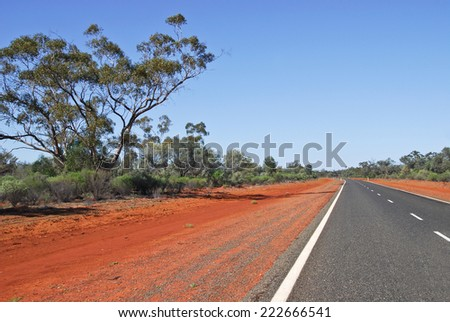 Highway In Australia - stock photo