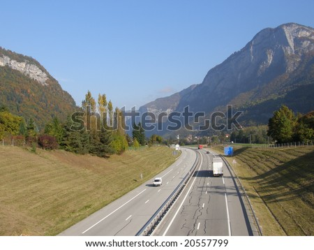 Highway in French Alps