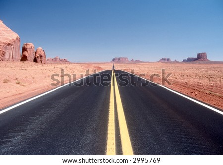 Highway in Monument Vally - stock photo