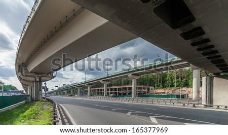 Highway interchange - stock photo