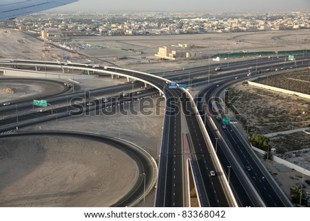 Highway junction in Dubai, United Arab Emirates