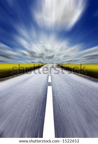 Highway/motion blur - stock photo