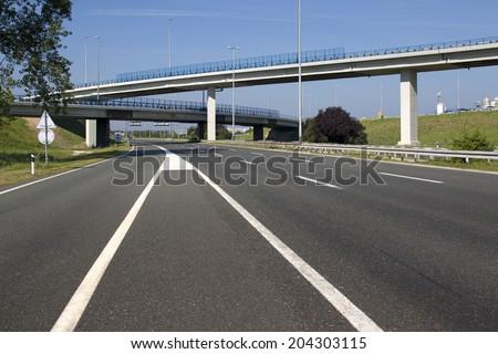 Highway near capital Zagreb in Croatia - stock photo