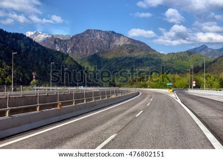 Highway road in the mountains