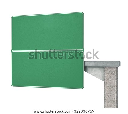 Highway road sign isolated on white  background