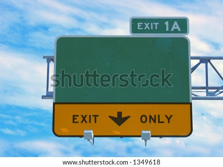 Highway sign - direction and exit sign