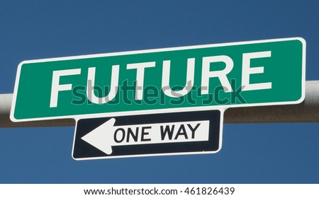 "Highway sign ""future one way"""