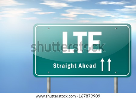 Highway Signpost  with LTE wording