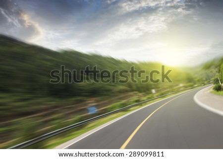 Highway speed cornering