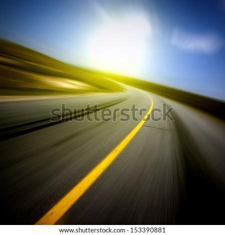 Highway speeds - stock photo
