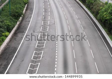 highway to airport, Hong Kong - stock photo