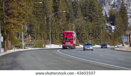 Highway traffic. - stock photo