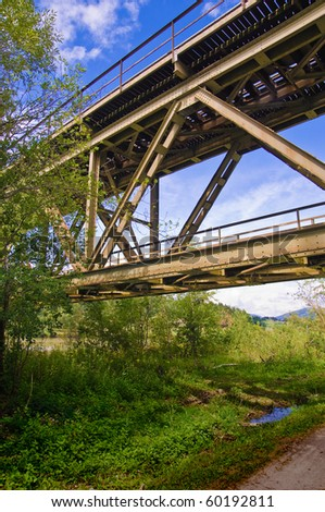 Highway train - stock photo