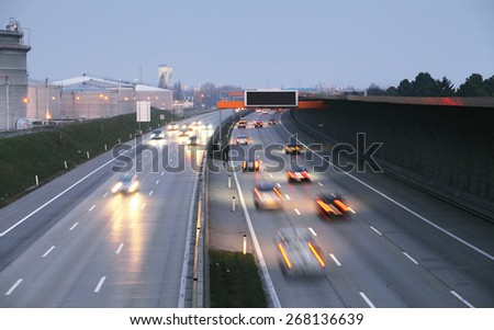 Highway transportation - stock photo