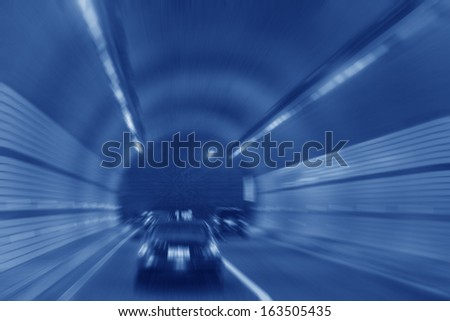 highway tunnel in china, closeup of photo