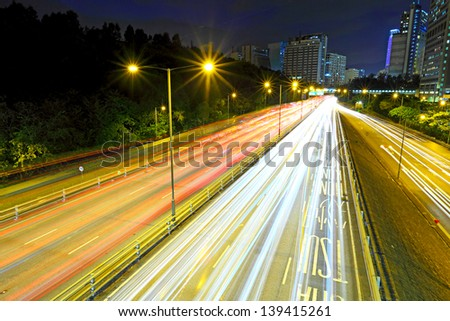 Highway with heavy traffic