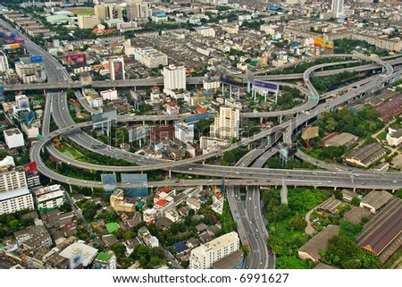 Highways of a city of Bangkok - stock photo