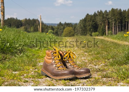 hike in the mountains - stock photo