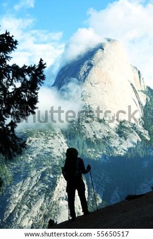 hike in Yosemite - stock photo