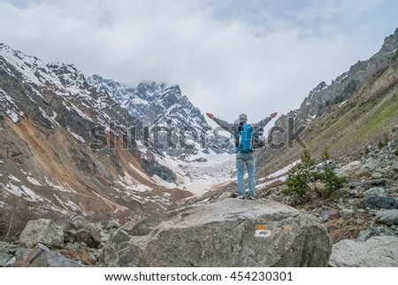 Hike to the glacier, Svaneti, Georgia