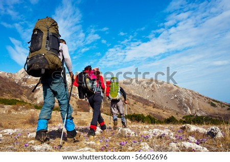 Hikers - stock photo