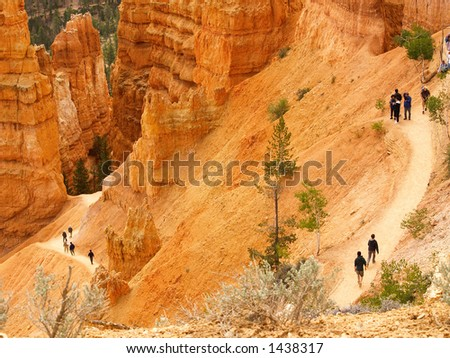 Hikers in Bryce Canyon (some faces intentionally blurred)