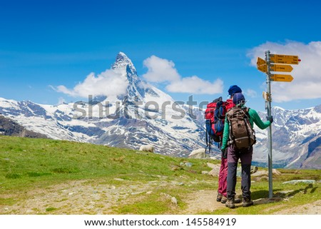 HIkers on the Matterhorn view trail