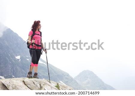 hiking - stock photo