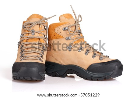 Hiking boot on a white background
